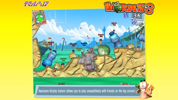 Worms 3 уже в App Store