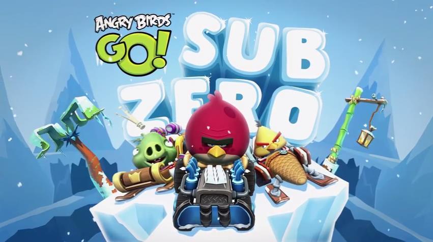 Эпизод Sub Zero для Angry Birds Go!: птицы перешли на снежные шины