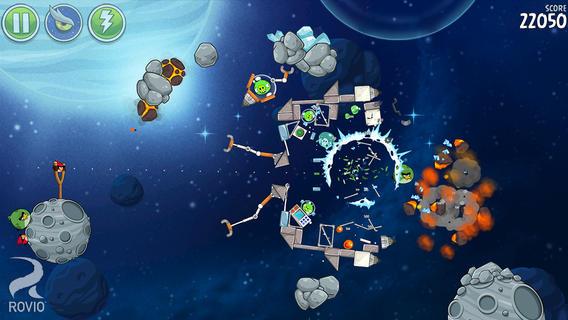 Angry Birds Space получила более 40 новых уровней