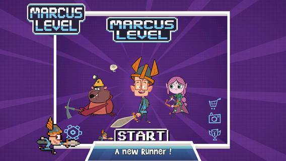 Marcus Level: спасите принцессу из лап чудовища в классическом платформере