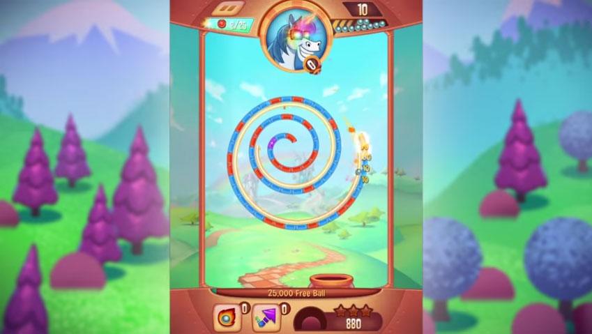 Казуальная игрушка Peggle Blast доступна для Android и iOS
