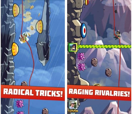 Казуальная игра Radical Rappelling от Halfbrick спускается в App Store