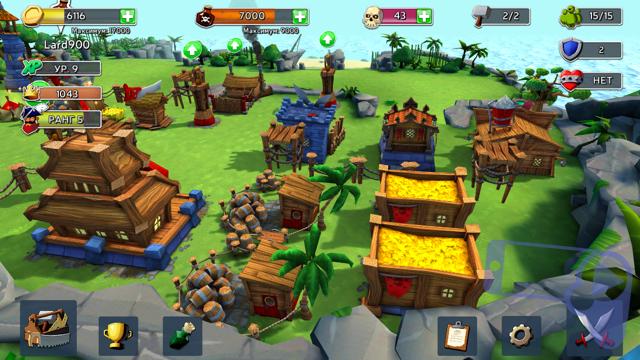 построение деревни в Raids of Glory