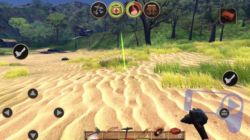Советы по игре в Radiation Island: зеленый столб указывает на точку окончания путь