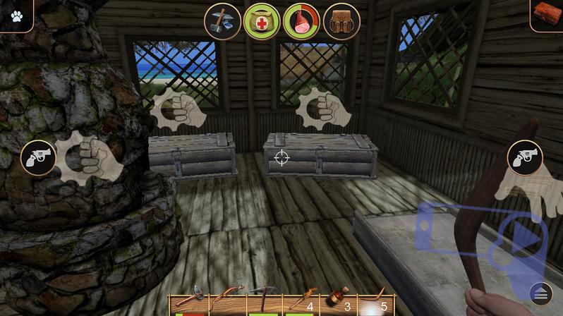 Советы по игре в Radiation Island: ящик, кровать и печь в доме
