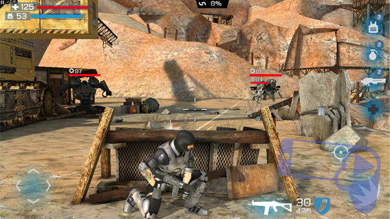 Геймплейный кадр перестрелки из Overkill 3