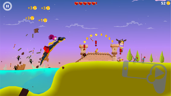 Летучий дракон в игре Dragon Hills для iOS и Android