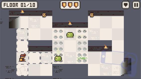 Кадр прохождения игры Microgue для iOS