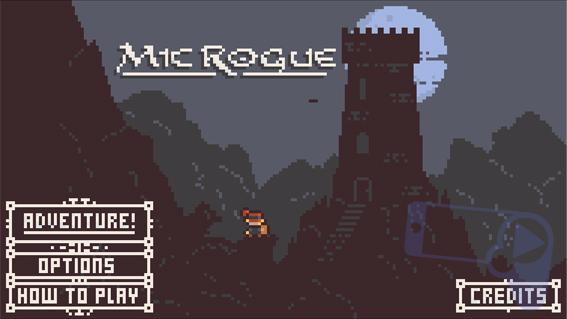 Главное меню в Microgue