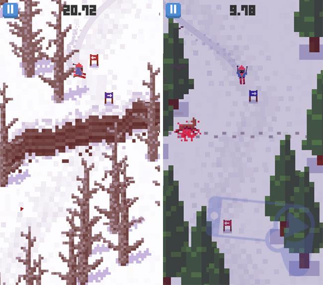 Спуск с вулкана и следы убийства оленя в Skiing Yeti Mountain