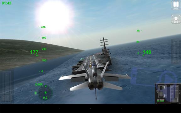 F18 Carrier Landing 2: американский самолет на посадке