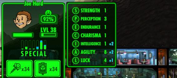 Советы Fallout Shelter: статистика S.P.E.C.I.A.L. опытного жильца
