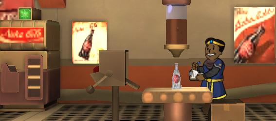 Советы Fallout Shelter: элитный житель работает на заводе колы