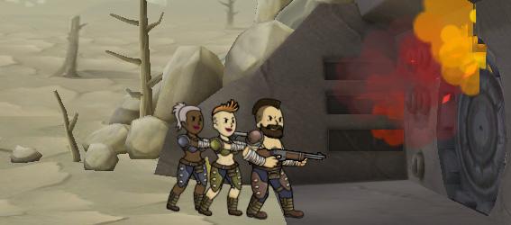 Советы Fallout Shelter: бойцы из пустоши штурмуют дверь бункера