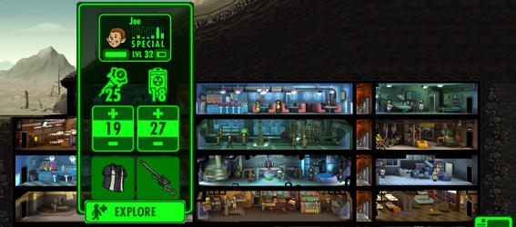 Отправить в подходящие комнаты fallout shelter