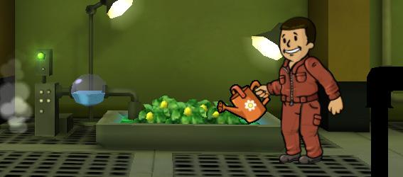 Советы Fallout Shelter: сад дает одно и тоже, что и кафе