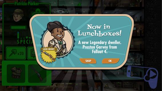 Герой Fallout Shelter из Fallout 4 доступен в ланч-боксах