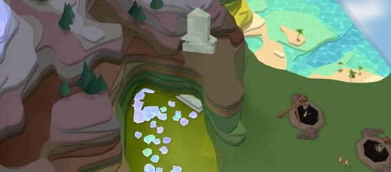 Где искать храмы и самоцветы в игре Godus?