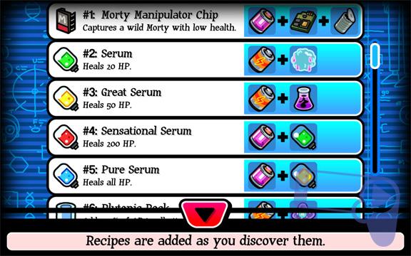 Как найти все рецепты в Pocket Mortys?
