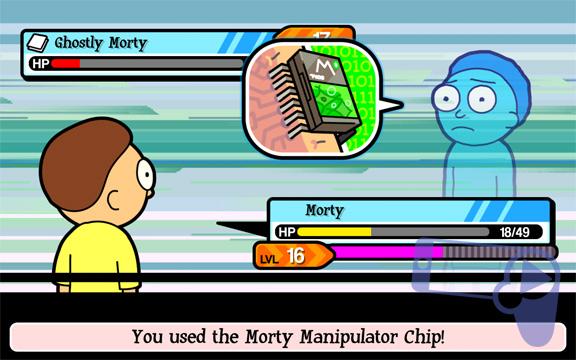 Как использовать чипы контроля над Морти в игре Pocket Mortys?