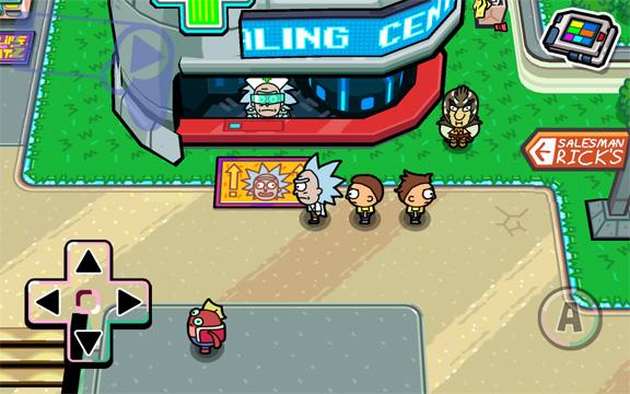 Город Риков в игре Pocket Mortys