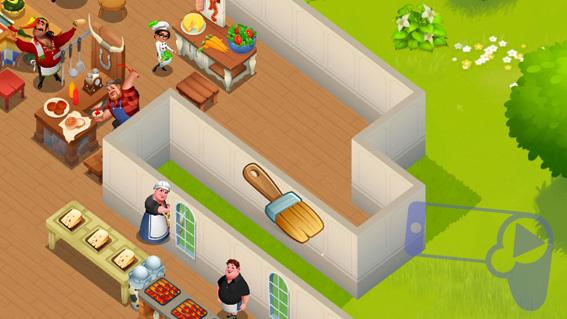 Как в World Chef удалять стены и полы?