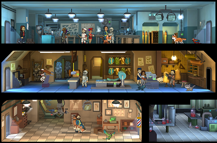 Крафт, новые комнаты, времена суток и другие новшества скоро появятся в Fallout Shelter