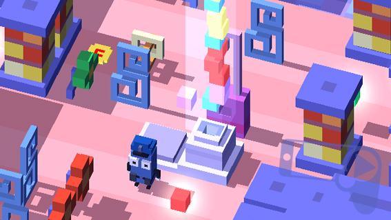 Что делать с кубиками в Disney Crossy Road?