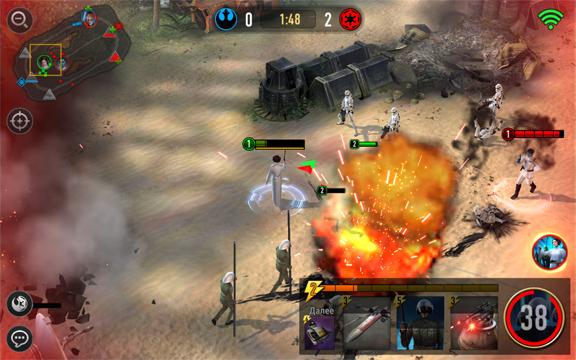 Кадр геймплея из «Звездные Войны: Арена Силы»