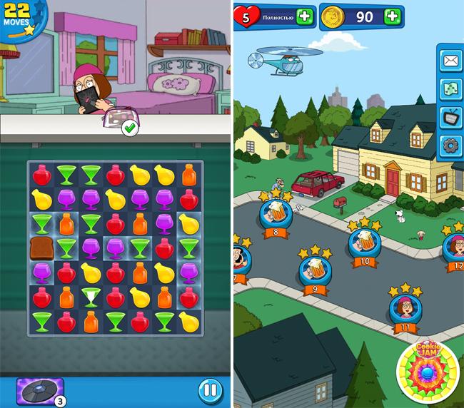 Family Guy - Another Freakin' Mobile Game – шутки и коктейли от Гриффинов