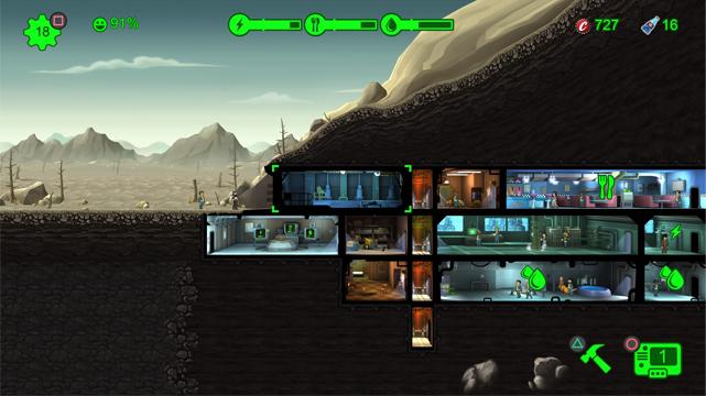 Сравнение версий: Мобильный Fallout Shelter на PS4