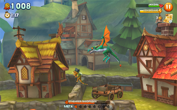 Приобщитесь к жизни дракона в динамичной аркаде Hungry Dragon