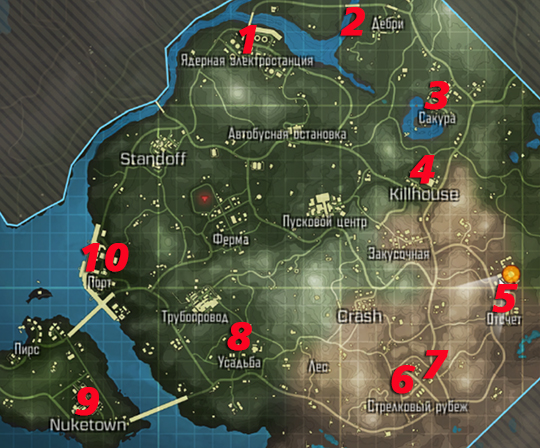 10 мест в где можно найти вертолет в королевской битве Call of Duty: mobile