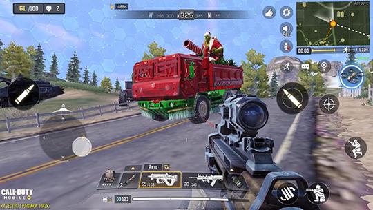 Зомби Санта на своем броневике!